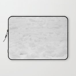 Snow Field // Winter Snow Landscape Photo Close Up Black and White Texture Snowflake Vibes Laptop Sleeve
