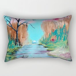 River in the Magical Forest Rectangular Pillow