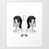 bowie Art Prints featuring Bowie  by Tate Eknaian