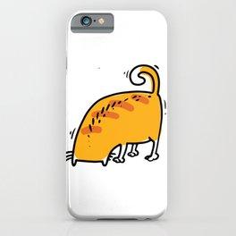 Funny Yoga Cat Illustration Yoga Asana Fun iPhone Case