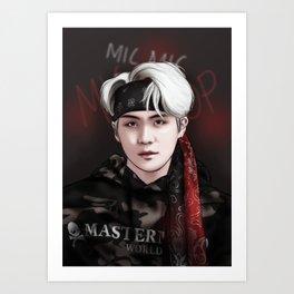 BTS SUGA MIC DROP Art Print
