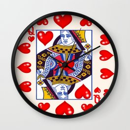 RED QUEEN OF ALL MY HEARTS Wall Clock