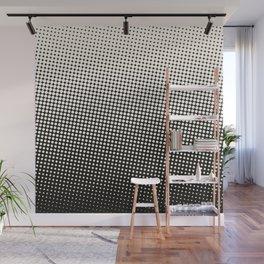 White & Black Halftone Wall Mural