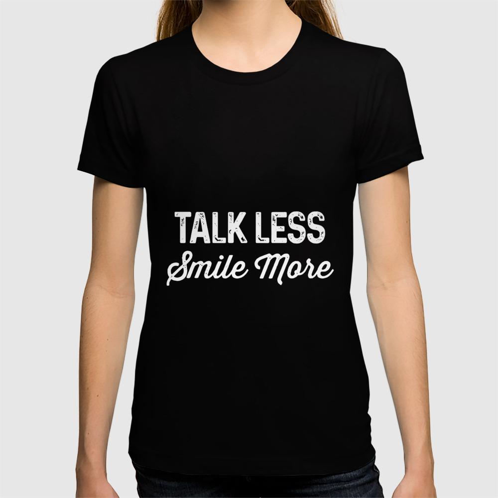 Retro Talk Less Smile More Shirt Historic Hamilton Quote T-Shirt