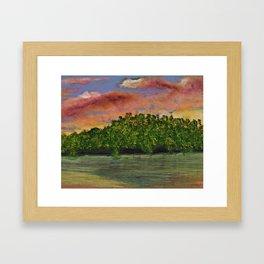 Missouri River Sunset Framed Art Print