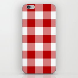 Red and White Buffalo Check iPhone Skin