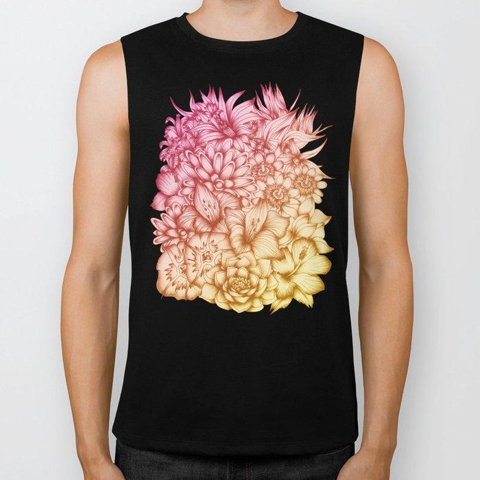 Tropical Flowers II Biker Tank