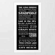 sandpoint, idaho Art Print