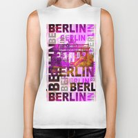berlin Biker Tanks featuring Berlin  by LebensART
