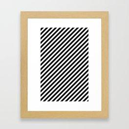 Classic Stripes Black + White Framed Art Print