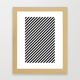Classic Stripes Black + White Framed Art Print