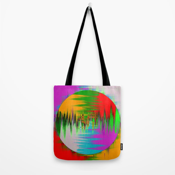 Colour Interference - Abstract colour painting Tote Bag