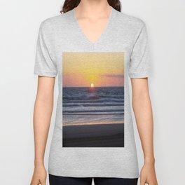 Sunset at Pismo Beach Unisex V-Neck
