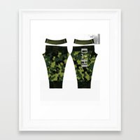 roald dahl Framed Art Prints featuring Dahl Sponsored by Bro Johnson