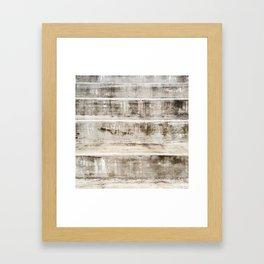 Cement Stripes Framed Art Print