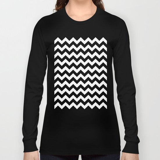 Chevron (Black/White) Long Sleeve T-shirt