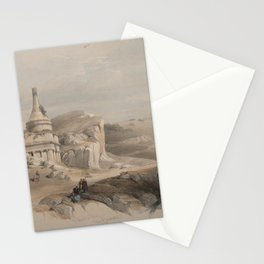Vintage Print - The Holy Land, Vol 1 (1842) - Absalom's Pillar, Valley of Jehoshaphat Stationery Cards