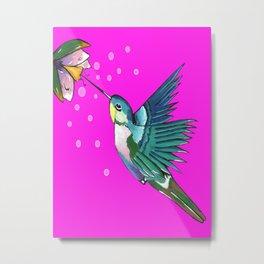 Spirited Hummingbird Metal Print