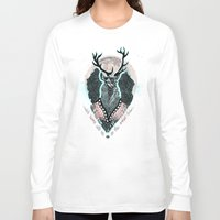 wind Long Sleeve T-shirts featuring Wind:::Deer by Süyümbike Güvenç