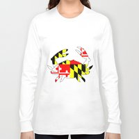 house md Long Sleeve T-shirts featuring Md crab by junaputra