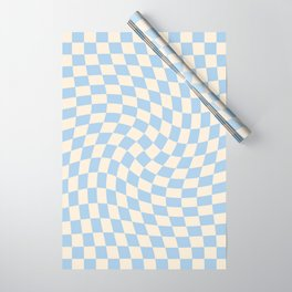 Check II - Baby Blue Twist — Checkerboard Print Wrapping Paper