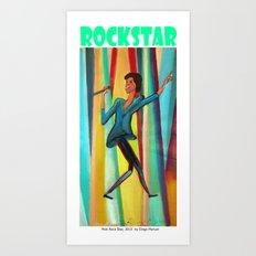 Rock Star by Diego Manuel Art Print