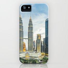 Petronas Towers at Sunset, Kuala Lumpur, Malaysia iPhone Case