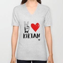 Peace, Love, Kirtan Unisex V-Neck