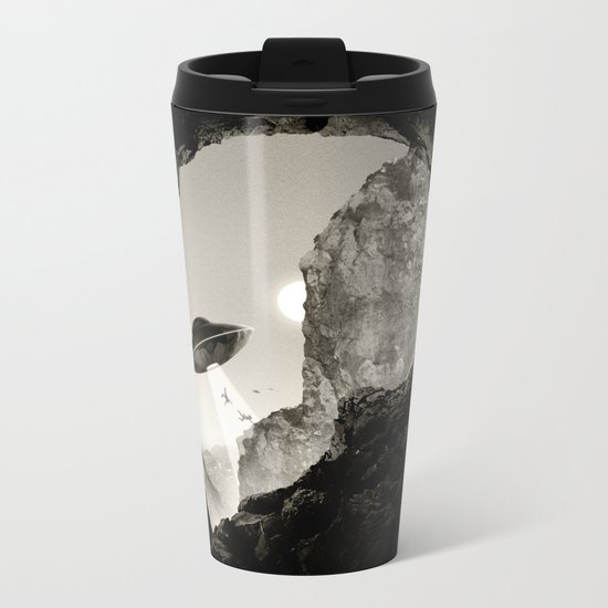 Alien´s Head Metal Travel Mug