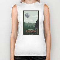 travel poster Biker Tanks featuring Endor Travel Poster by Tawd86
