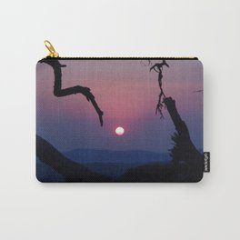 African Sunset - Blue Carry-All Pouch