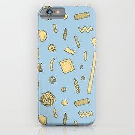 Pasta pattern blue iPhone Case