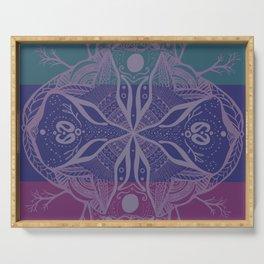 Mandala Drawing Serving Tray
