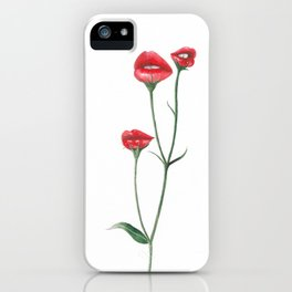 Flower kisses iPhone Case