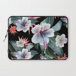 Tropical banana leaf, hibiscus vintage style, Hawaiian decor, retro Laptop Sleeve