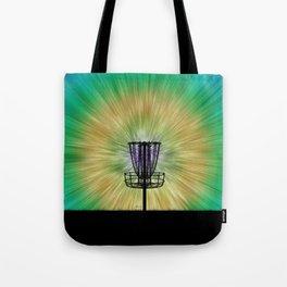 Tie Dye Disc Golf Basket Tote Bag