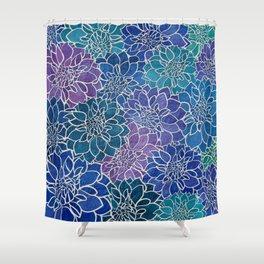 Dahlia Flower Pattern 5 Shower Curtain