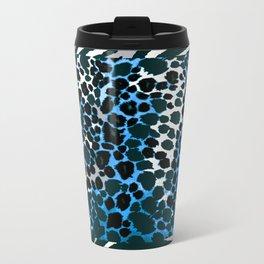 ANIMAL PRINT  BLUE BLACK AND GRAY Travel Mug