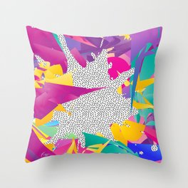 80s Abstract Throw Pillow