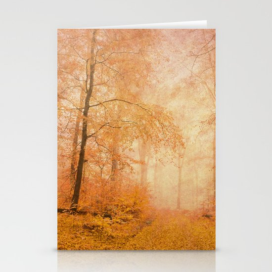 misty pathway Stationery Cards
