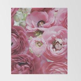 Bloom Sweetly - Rose Pink Throw Blanket