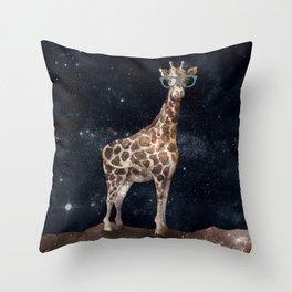 After Hours Giraffe Throw Pillow