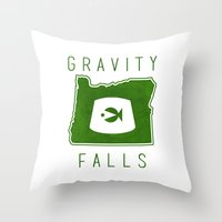 fez Throw Pillows featuring Gravity Falls - Grunkle Stan's Fez (White) by pondlifeforme