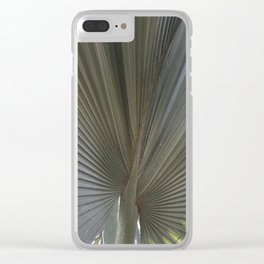 Gray Frond DP150314-16 Clear iPhone Case