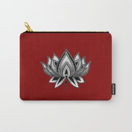 LOTUS FLOWER RED Carry-All Pouch