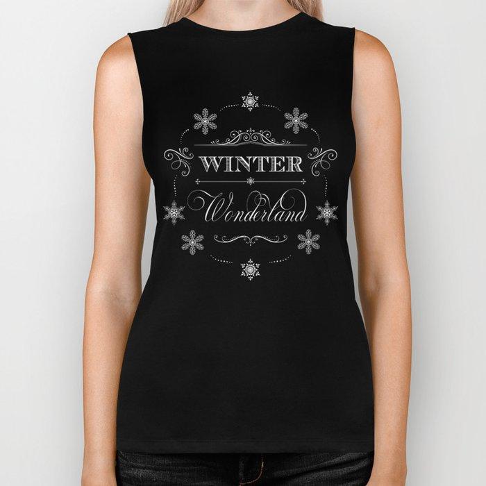 Winter Wonderland Christmas Biker Tank