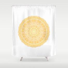 Mandala 13 / 1 yellow Citrine Shower Curtain