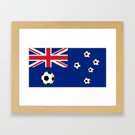 Australian Flag Football Framed Art Print