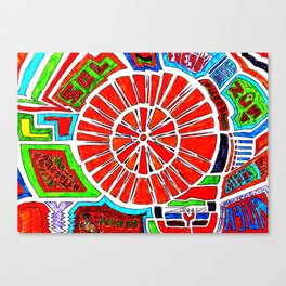 Tata Inty Semilla Canvas Print