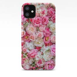 Pink & Red Roses iPhone Case